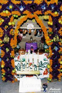 Flores para el altar.